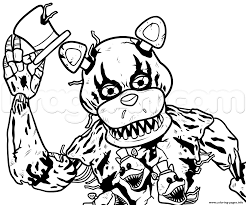 five nights at freddys fnaf coloring pages free download printable with 5 nights at freddys coloring pages png