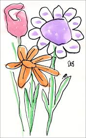 kids art project for tracing and painting watercolor flowers