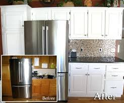 Paint Wood Kitchen Cabinets Painting Oak Kitchen Cabinets White Before And After Wood Paint