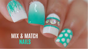 mix and match nails youtube