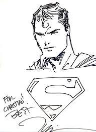 jim lee superman sketch by venomaxxx on deviantart