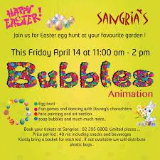 sangria u0027s easter egg hunt 2017 sangria u0027s restaurant