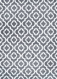 Modern Gray Rug 3028 Moroccan Trellis Gray Area Rug Modern Contemporary Abstract