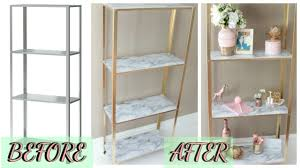 easy diy marble and gold shelf ikea hack youtube