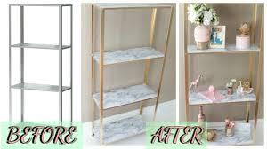 easy diy marble and gold shelf ikea hack youtube