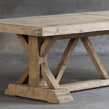 salvaged wood salvaged wood trestle dining table