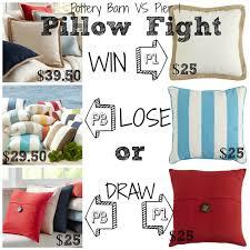 decor look alikes pottery barn vs pier 1 pillow fight save up