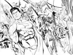 the justice league ready for battle coloring page netart