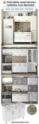 Antique Metal Kitchen Cabinets by Bertolini Steel Kitchen Ready To Assemble Steel Kitchen Cabinets