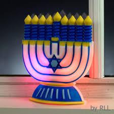 hanukkah candles colors chanukah led window decor color changing batt op card ahuva