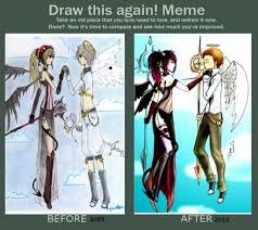Angel Meme - draw this again meme devil and angel by redstrarlight on deviantart