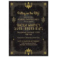 colors black and gold 50th birthday party invitations with 60th
