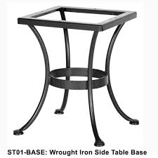 Ow Lee San Cristobal by Ow Lee Standard Wrought Iron Side Table Base St01 Base