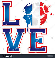 Football Flag Printing Love France Football Soccer Template Ideal Stock Vector 188961626