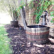 whiskey barrel water fountain in 3 easy steps diy princeples