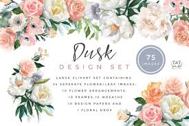 watercolor flowers photos graphics fonts themes templates