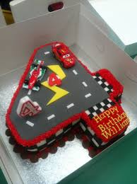 lightning mcqueen cake car was made out of chocolate cake carved