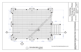 free deck plan blueprint with pdf document download deck with stairs plan page