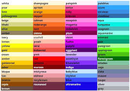 weird color names my secondary color palette much more comfortable