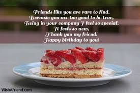 friends like you are to best friend birthday wish