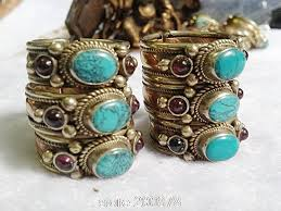 vintage rings aliexpress images R160 indian rose copper inlaid green turquoise rings tibet jpg