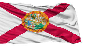 Florida Flag History Florida Flag Isolated Realistic Animation Seamless Loop 10