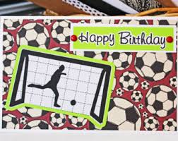 soccer birthday card etsy