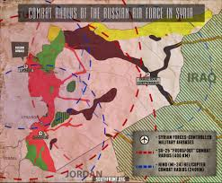 Map Radius Radius Of The Russian Air Force In Syria Infographics