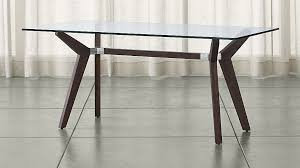 crate and barrel phoenix work table strut bourbon glass top table 70 reviews crate and barrel