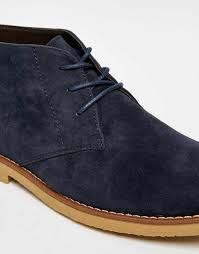 durable new look lace up desert boots faux leather men 00226