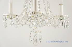 Bohemian Glass Chandelier Vintage Bohemian Czech White Opaline Overlay Crystal Chandelier