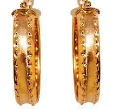 real gold earrings best 25 real gold hoop earrings ideas on