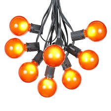 orange icicle lights halloween orange satin g50 globe outdoor string light set on black wire