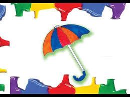 umbrella coloring pages kids umbrella color art