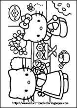 kitty graduation coloring pages education