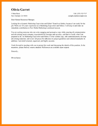 cover letter examples marketing 6 editorial letter example rn cover letter