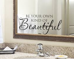 Wall Transfers For Bathroom Wall Decal Bathroom Sign Bathroom Wall Decor Be Your Own