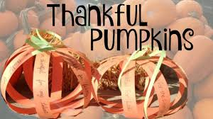 thanksgiving day craft for thankful pumpkins easy