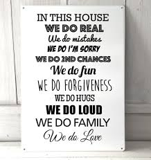 disney quotes love family in this house we do real quote metal sign
