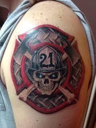 firefighter maltese cross tattooic