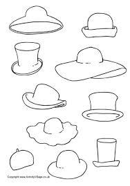 decorate hats printable