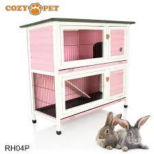 Pet Hutch Cozy Pet Rabbit Hutch Pink Cozy Pet Ltd
