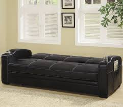 Faux Leather Sofa Sleeper Coaster Furniture Faux Leather Sofa Bed With White Stitching