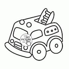 cartoon small truck coloring preschoolers transportation