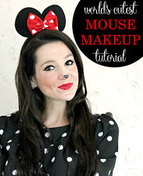 simple minnie mouse makeup tutorial for halloween