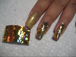 tutorial nail art foil holographic gold nail foil application diy nail art tutorial youtube