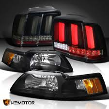 99 04 mustang sequential tail light kit black 99 04 mustang cobra headlights sequential signal led tube tail