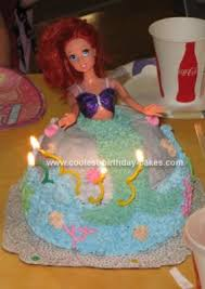 easy homemade ariel birthday cake