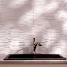 fasade 24 in x 18 in waves pvc decorative tile backsplash in