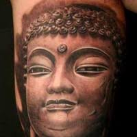 big buddha tattoo on whole back tattooimages biz